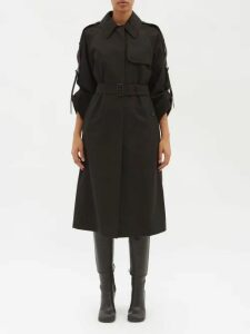La Doublej - Bouncy Abstract Print Cotton Blend Mini Dress - Womens - Black Pink