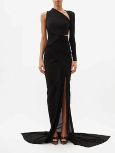 La Doublej - Molly Girl Holly Hock Print Maxi Dress - Womens - Black Print