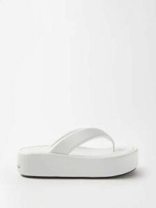 La Doublej - Bouncy Tribale Print Cotton Blend Maxi Dress - Womens - Black Print