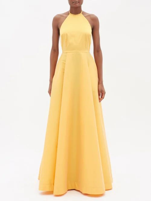 Roksanda - Lennix Striped Cotton Blend Trench Coat - Womens - Grey Multi