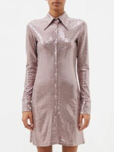Miu Miu - Prince Of Wales Checked Wool Blazer - Womens - Grey