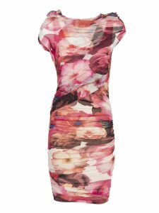 Msgm Floral Print Sheer Dress