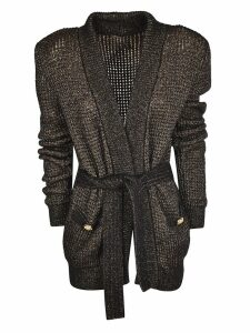 Balmain Button Embellished Cardi-coat