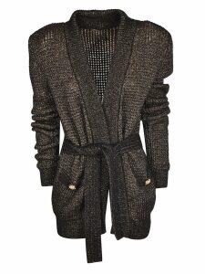 Balmain Button Embellished Cardi-coat