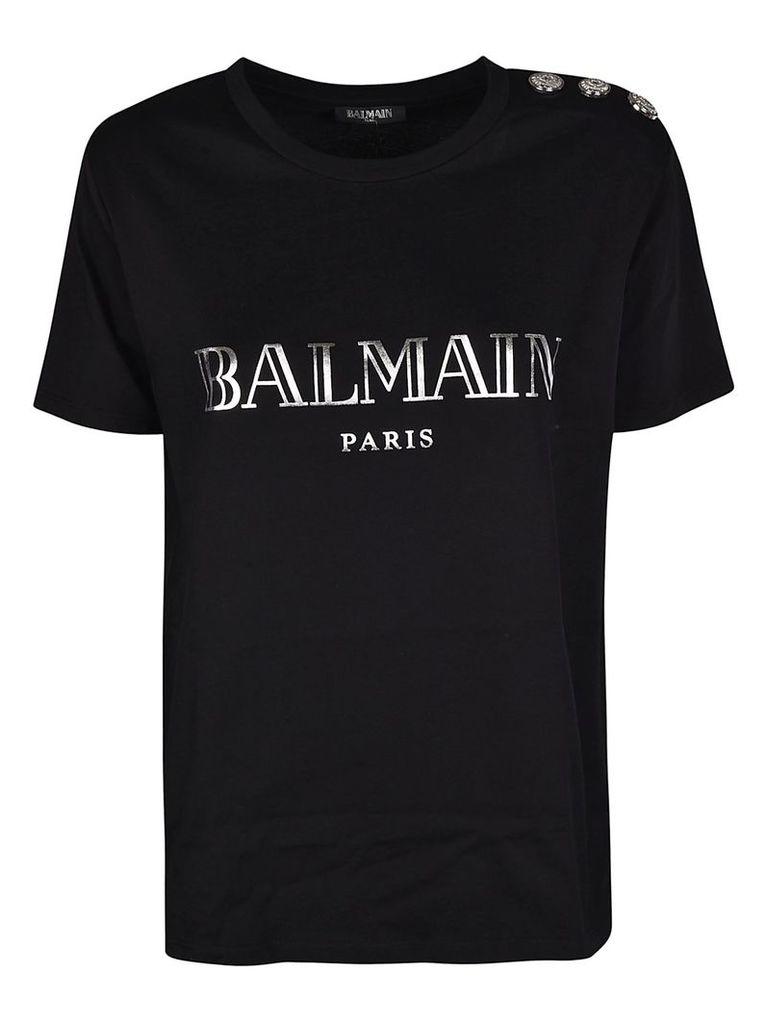 Balmain Embellished Buttons T-shirt