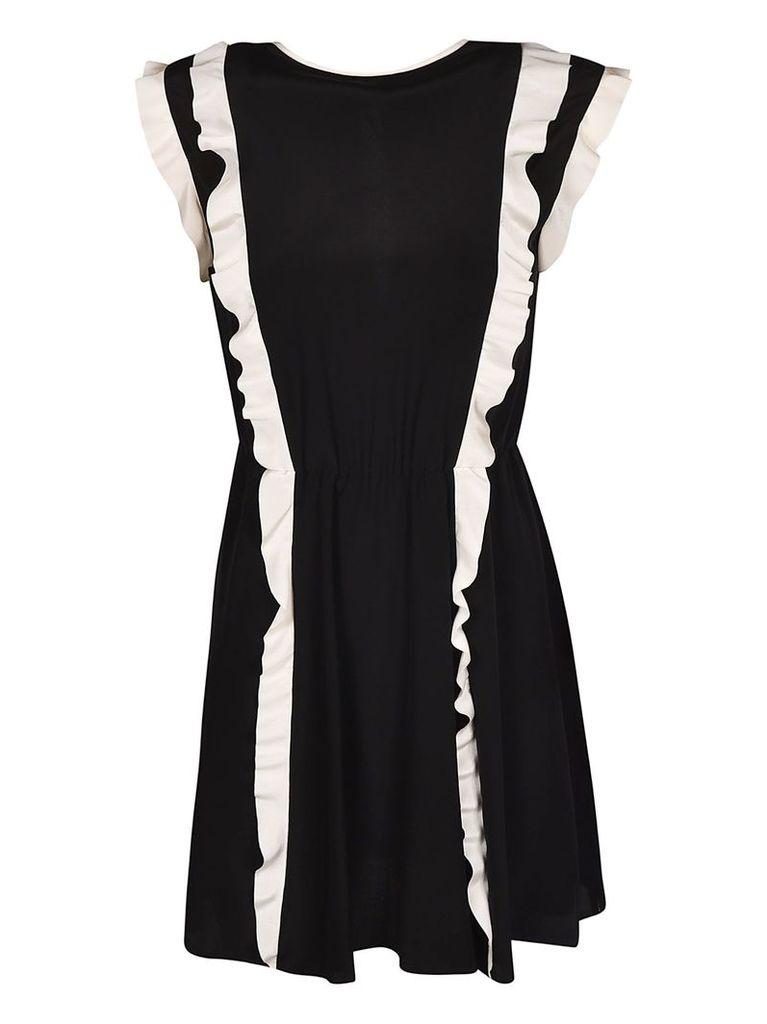 Valentino Ruffled Trim Dress