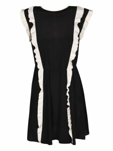 Valentino Ruffled Trim Dress