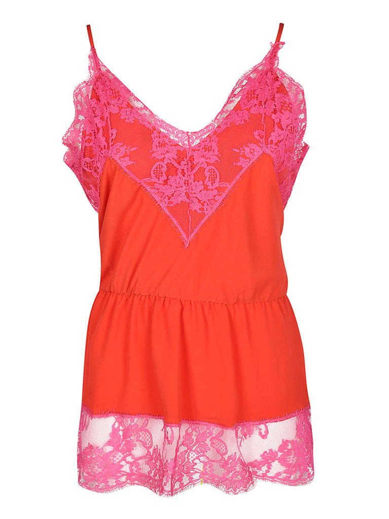 Msgm Floral Lace Top