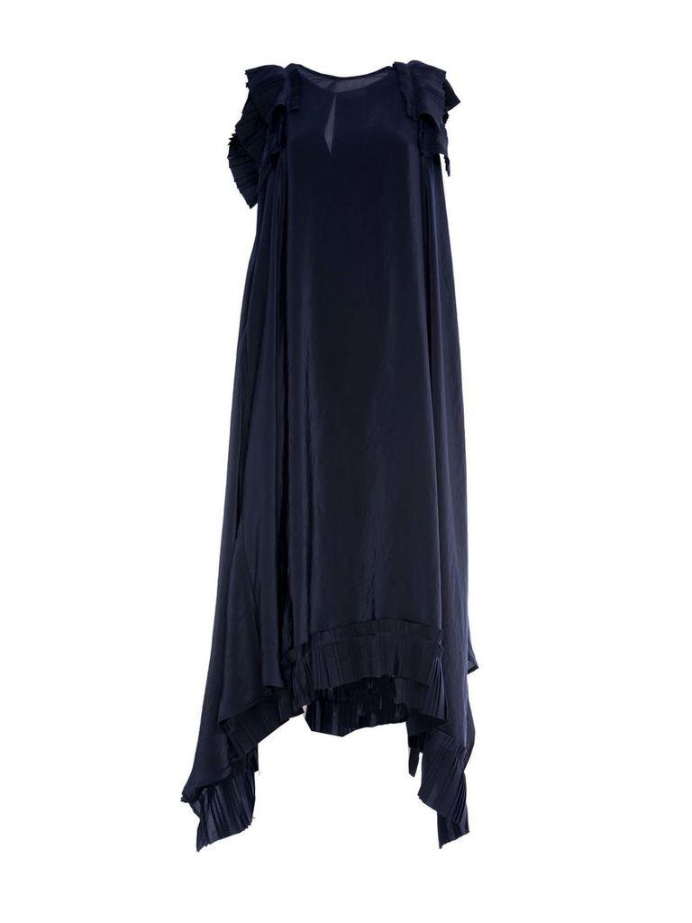 Parosh P.a.r.o.s.h. Pleated-hem Dress