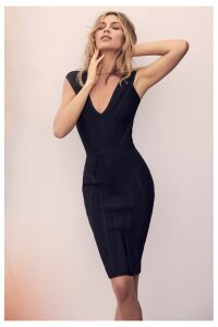 Lipsy Abbey Clancy x Sweetheart Bandage Dress - 16 - Black