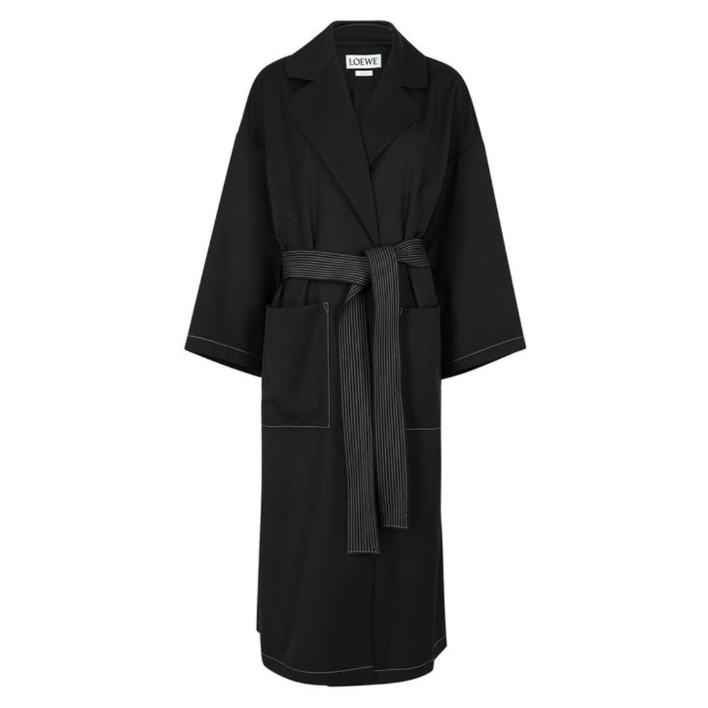 Loewe Black Belted Twill Coat