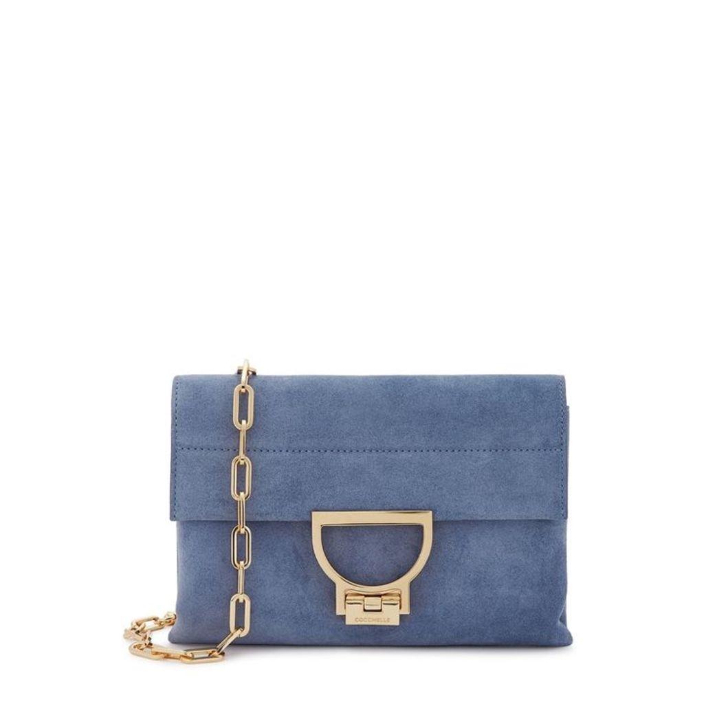 COCCINELLE Arlettis Blue Suede Cross-body Bag