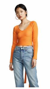 Tibi Decollette Wrap Pullover
