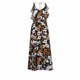See U Soon  GARAGALE  women's Long Dress in Multicolour