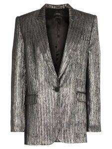 Isabel Marant Datja metallic plissé blazer - Silver