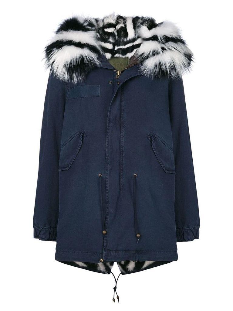 Mr & Mrs Italy slim-fit midi parka coat - Blue