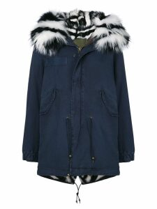 Mr & Mrs Italy slim-fit midi parka coat - Blue