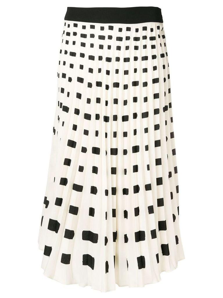 Ssheena pleated midi skirt - Neutrals