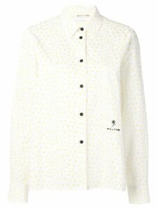 1017 ALYX 9SM polka dot textured shirt - White