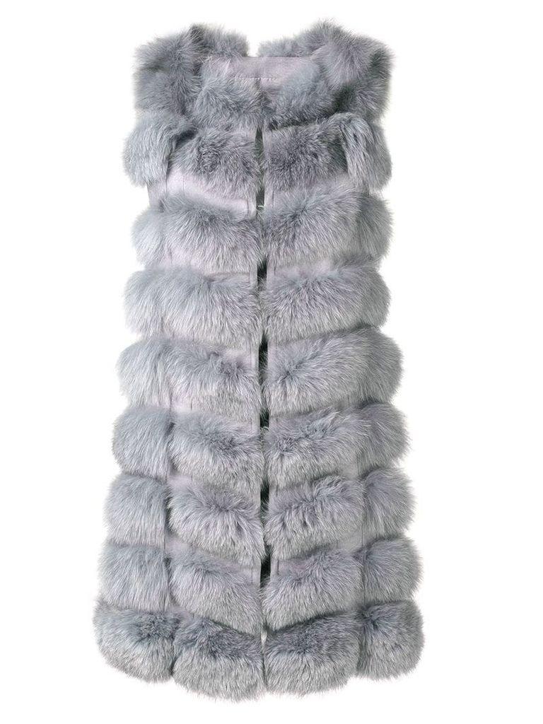 Liska padded gilet coat - Grey