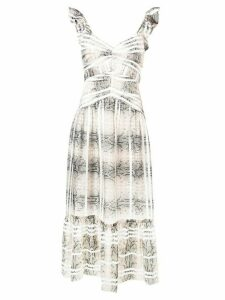 Three Floor Snakes And Ladders dress - NEUTRALS