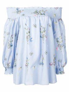 Blugirl floral print off shoulder top - Blue