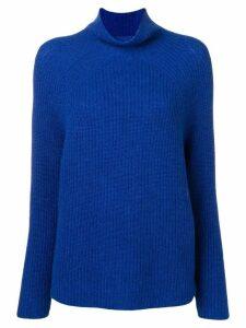 N.Peal high neck ribbed jumper - Blue
