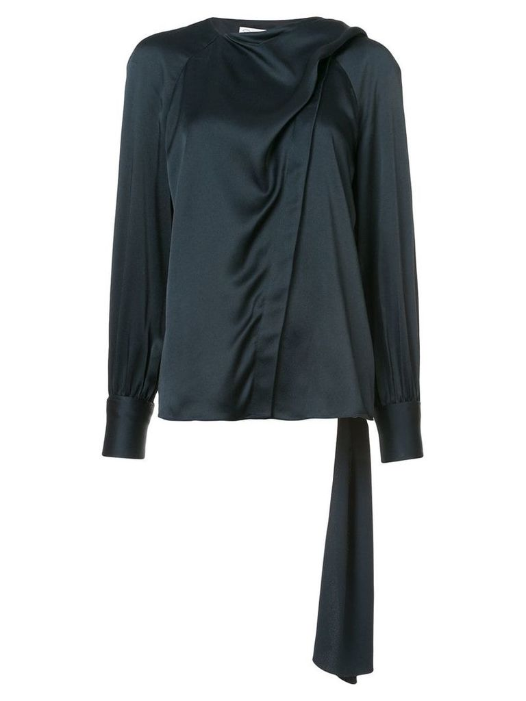 Oscar de la Renta draped-front shirt - Black