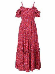 Derek Lam 10 Crosby Off The Shoulder Cami Dress with Ruffle Hem - Red