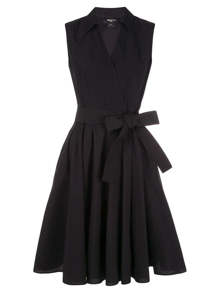 Paule Ka belted midi dress - Black