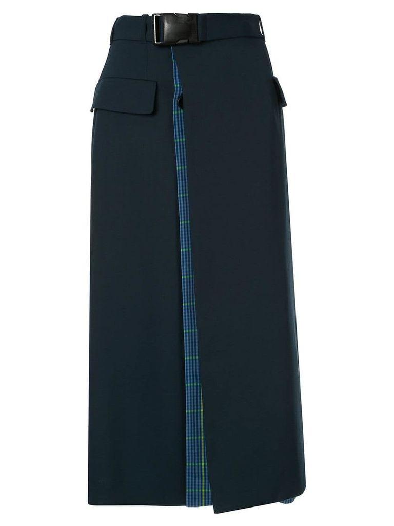 Maison Margiela buckle belt midi skirt - Blue