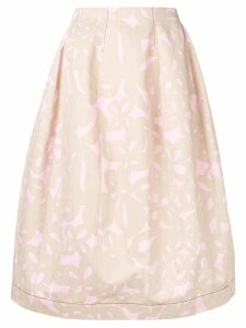Marni printed full skirt - Brown