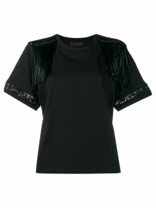 Diesel Black Gold jersey top with lace details