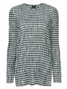 Kitx check printed blouse - Black