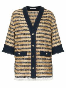 Alessandra Rich button-down knitted shirt jacket - Black