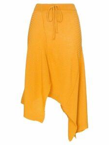 Marques'Almeida ribbed merino wool midi skirt - Yellow
