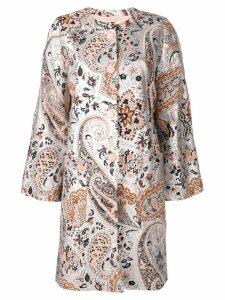 Etro paisley print coat - Silver