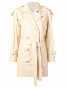 Attico oversized button trench coat - Neutrals