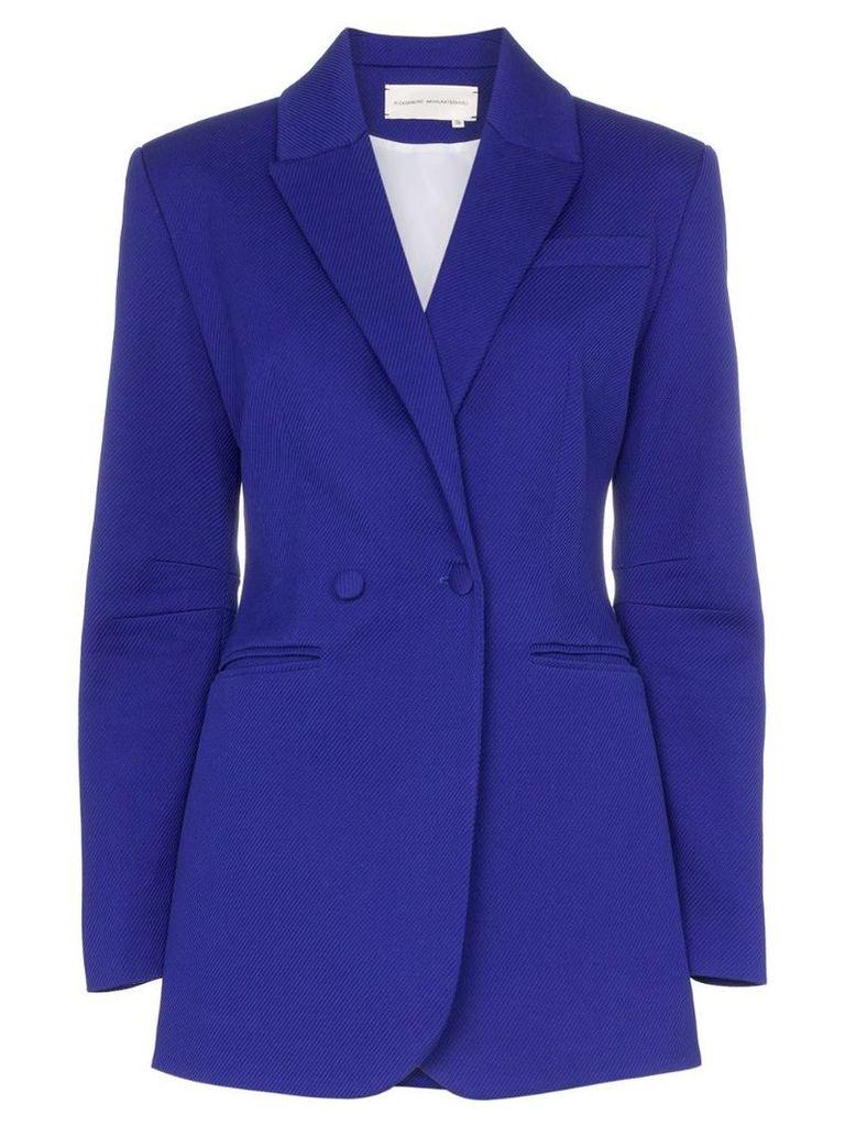 Aleksandre Akhalkatsishvili tailored single-breasted blazer - Blue