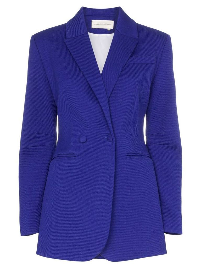 Aleksandre Akhalkatsishvili tailored single-breasted blazer - Blue