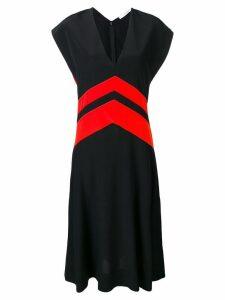 Givenchy colour-block flared dress - Black