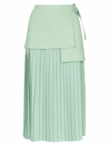 Joseph Billie buckle-detail pleated skirt - Green