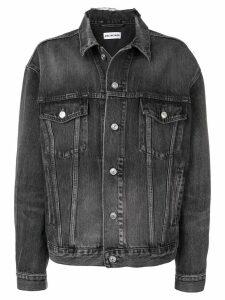 Balenciaga logo denim jacket - Black