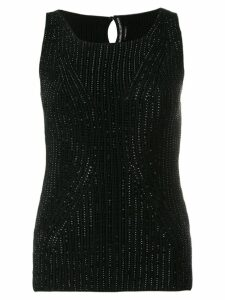 Ermanno Scervino cotton knit top - Black
