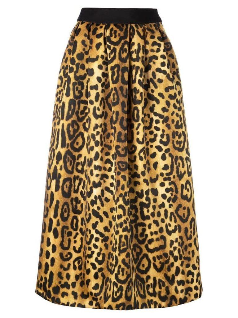 Adam Lippes printed midi skirt - Black