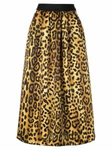Adam Lippes printed midi skirt - Black