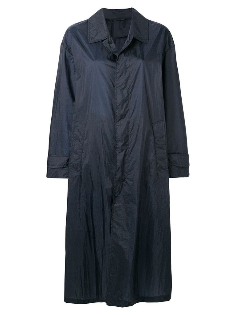 Mackintosh Navy Nylon Oversized Coat LM-100B - Blue