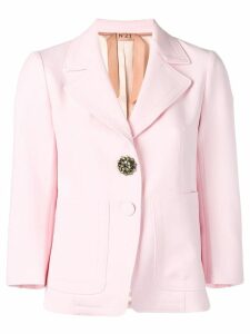 Nº21 brooch embellished blazer - Pink