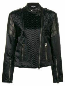 Tom Ford animal print leather jacket - Black