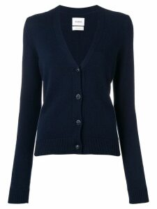 Barrie embossed button cardigan - Blue
